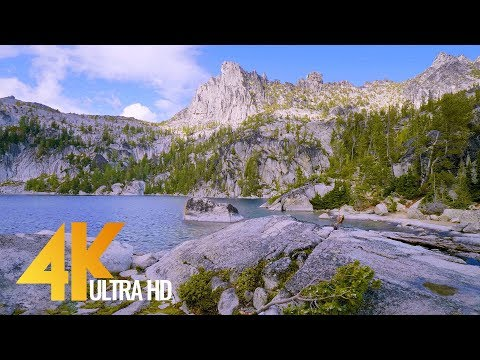 4K UHD Mountain Lake Relaxation Video ( 3 Hours ) Enchantmen
