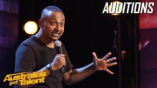 Umit Bali is a comic hit! | Auditions | Australia's Got Talent 2019