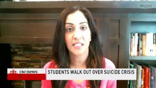 CBC News Network Ian Hanomansing interviews Dr  Shimi Kang about teen suicide