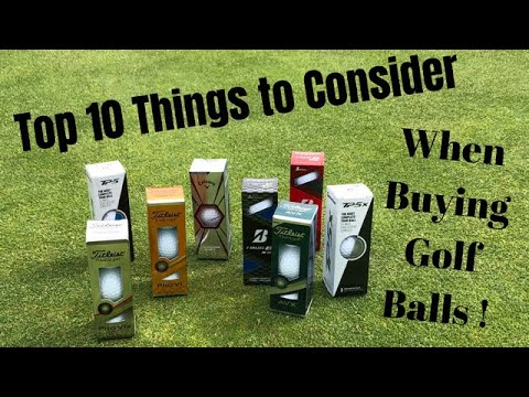 Top 10 Things To Consider When Buying Golf Balls