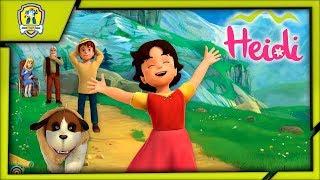 Хайди Приключение в горах Обучение для дошкольников Игровой мультфильм