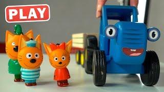 КукуPlay - Синий Трактор, Три кота и Миша ищут Зоопарк - Играем с Викой