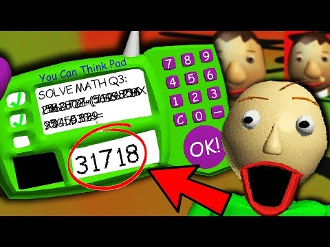 THE *REAL* ANSWER TO BALDI'S IMPOSSIBLE QUESTION?! | Baldi's Basics Gameplay