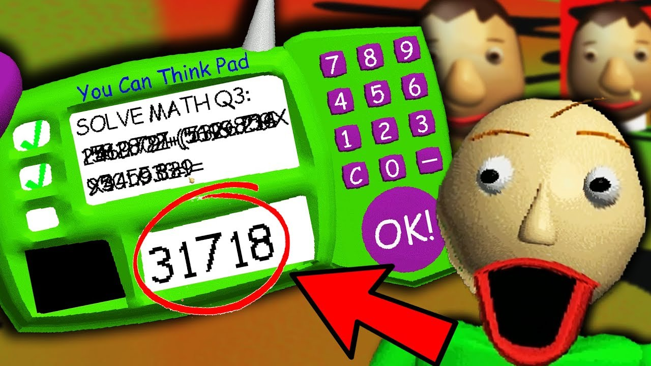 The Real Answer To Baldi S Impossible Question Baldi S Basics Gameplay Youtube