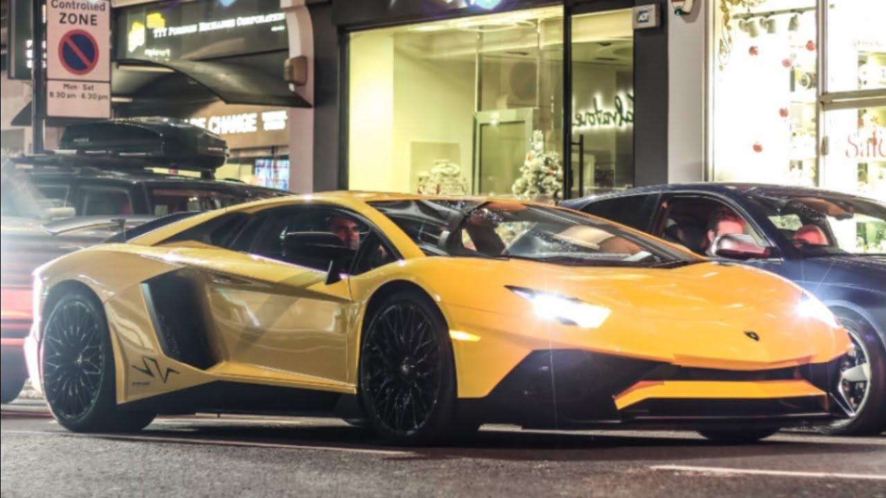 Yellow Lamborghini Aventador Sv Cruising In London Youtube