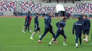 Сборная России провела тренировку перед матчем со Словенией
