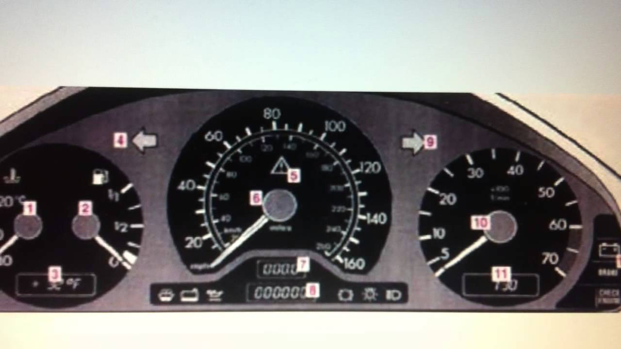 Mercedes C Class W202 Dashboard Warning Lights & Symbols - Diagnostic  Scanners by DominatorParts