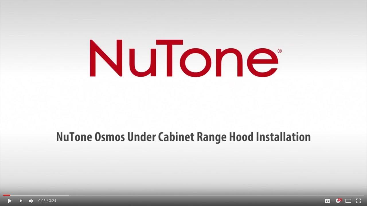 Osmos Range Hood Installation Nutone Youtube Switch Wiring Diagram