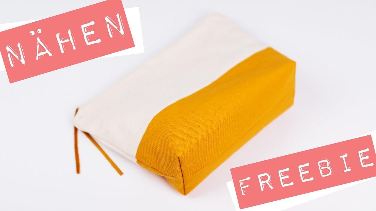 Tasche mit Boden und Reißverschluss nähen + kostenloses ...