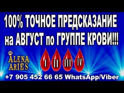 100% точное предсказание на АВГУСТ по ГРУППЕ КРОВИ!!!//гадание онлайн  на картах таро