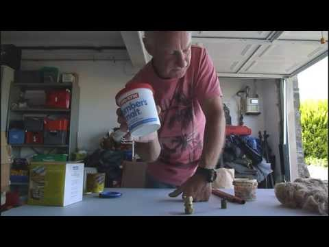 How to seal copper pipes, plastic pipes and sanitary ware.