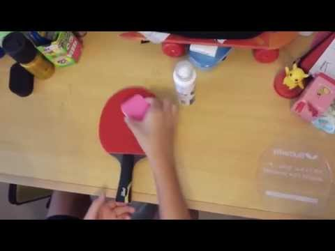 How to clean your table tennis bat (rubber)