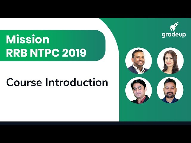 Mission RRB NTPC 2019 || Course Introduction