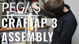 Pegas Craftap 3 Counter Pressure Bottle Filler Assembly and Demonstration