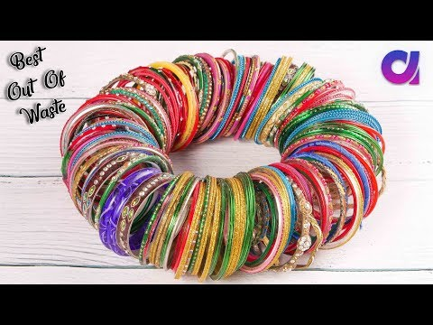 Best out of waste Bangles crafts idea | How to reuse old bangles | Artkala