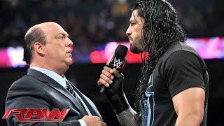 Paul Heyman addresses Roman Reigns: Raw, February 23, 2015
