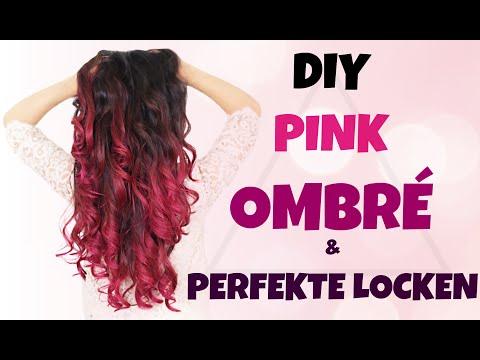 DIY PINK OMBRÉ HAIR 🌺 PERFEKTE LOCKEN GANZ EINFACH + VERLOSUNG | KINDOFROSY