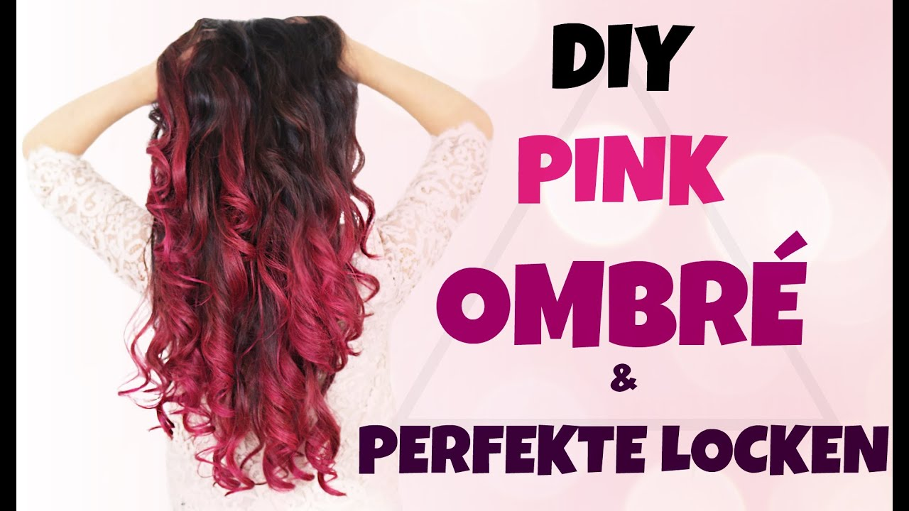 diy pink ombr hair perfekte locken ganz einfach verlosung kindofrosy youtube. Black Bedroom Furniture Sets. Home Design Ideas