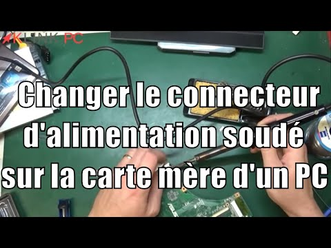 tuto comment changer le connecteur d 39 alimentation soud sur la carte m re d 39 un pc portable. Black Bedroom Furniture Sets. Home Design Ideas