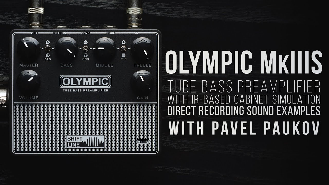 Shift Line OLYMPIC MkIIIS Tube bass preamplifier with IR-based