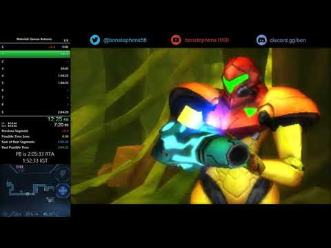 Samus Returns Any% Speedrun in 1:59:49 [World Record]