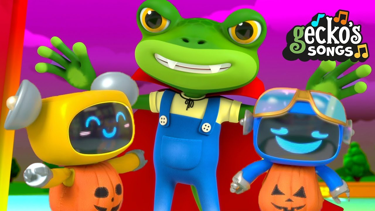 What's That Noise?|Halloween Song|BRAND NEW Gecko's Garage|Truck Cartoon For Kids|Funny Baby Robots