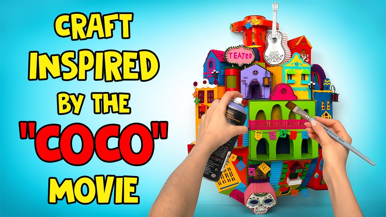 """Making An AMAZING Craft Inspired By The """"Coco"""" Movie"""