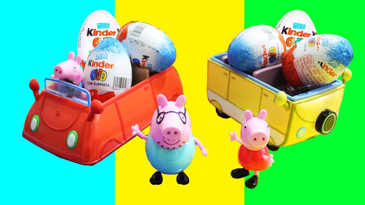George Da Peppa Pig Kinder Ovos Surpresas Toys Surprise Eggs Youtube