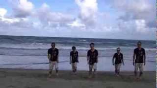 平均年齢39歳の僕らですが、3ヶ月練習を重ね地元の浜で踊ってみた。