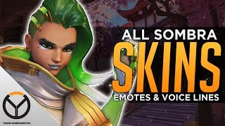 Overwatch: All Sombra Legendary Skins, Emotes & Voice Lines