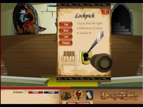 Dragon Fable- Level 999 Storage Closet Pick Combination 2012
