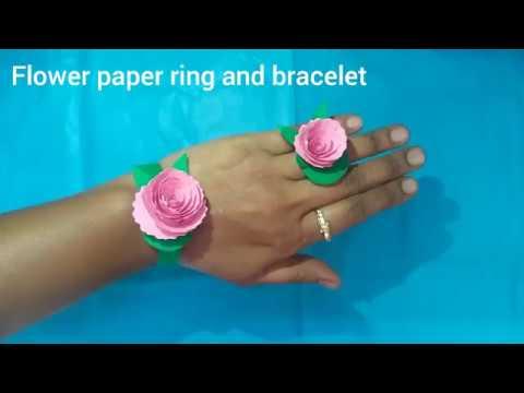 Flower Paper Ring and Bracelet Making