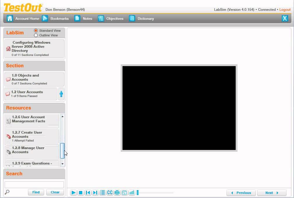 testout labsim windows configuring exam guide