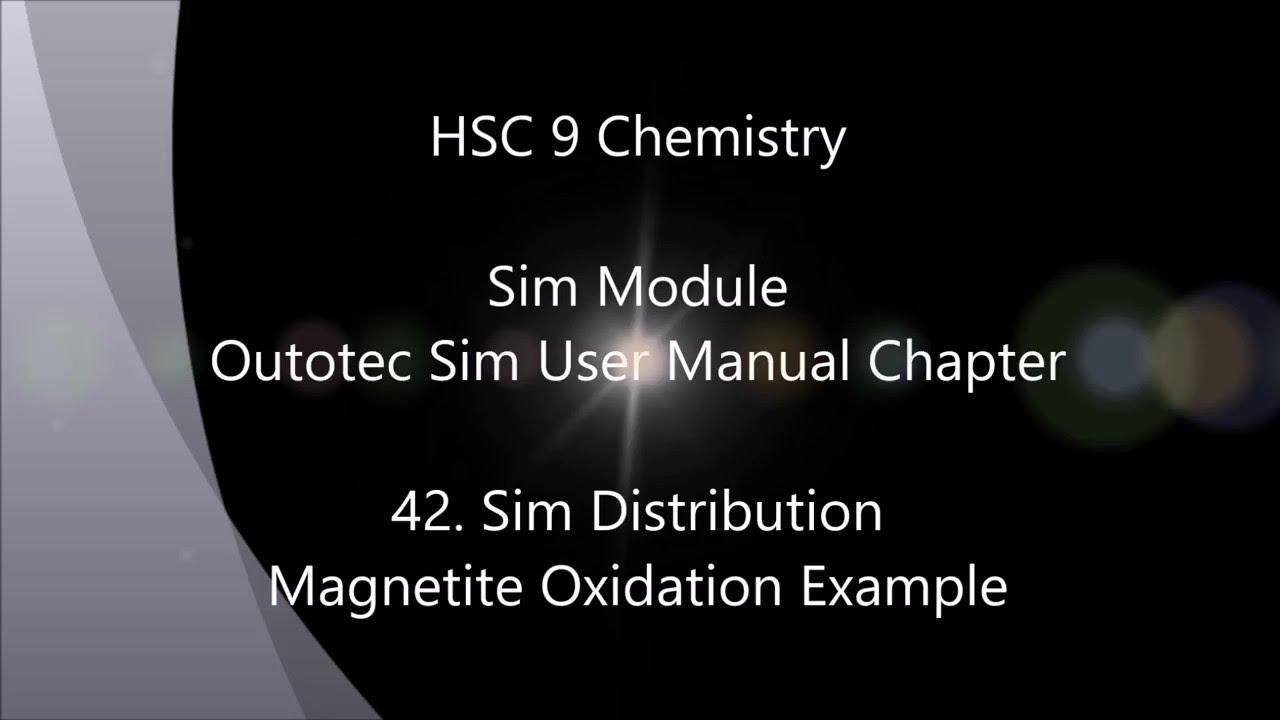HSC 9 0 Chemistry-42  Simulation Distribution: Magnetite Oxidation