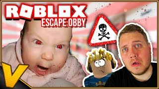Danish Roblox:: I HAVE BECOME a FATHER! 👶-Escape Evil Baby Obby