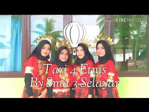Tari 4 Etnis Mandar | Toraja | Bugis | Makassar #VersiSMA3Selayar