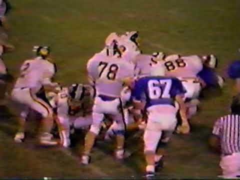Western High School Wildcats football game vs Plantation 1988(3rd Quarter)