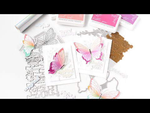 Custom Color Ink Blending & Rainbow Ink Blending   Pinkfresh Studio April 2021 Release  Butterfly Beauty Bliss Products Price List
