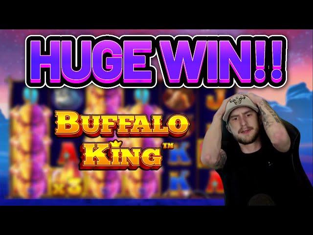 HUGE WIN!!!! BUFFALO KING BIG WIN -  Casino slot from Casinodaddy LIVE STREAM