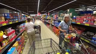 September 10, 2019/705 Trucking, Grocery shopping at ALDI. Oconomowoc, Wisconsin