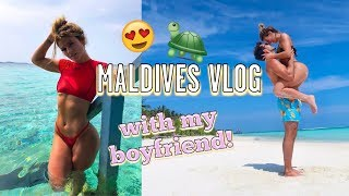 HOLIDAY VLOG WITH MY BOYFRIEND | WHAT WE DID IN THE MALDIVES! SWIMMING WITH TURTLES!! VLOGMAS 8