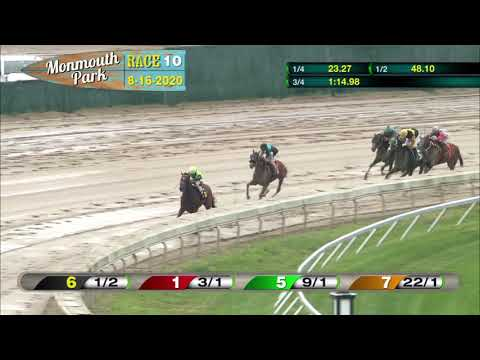 video thumbnail for MONMOUTH PARK 08-16-20 RACE 10