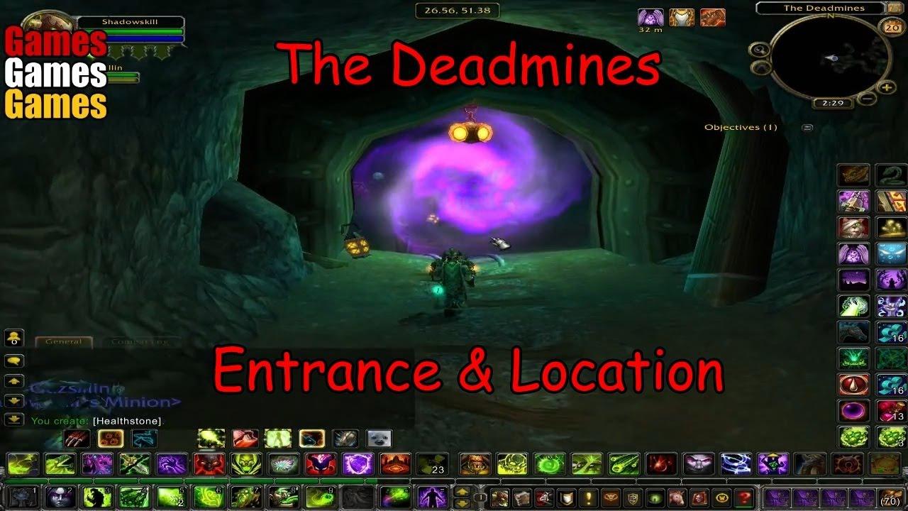 the deadmines entrance location world of warcraft original dungeons youtube. Black Bedroom Furniture Sets. Home Design Ideas