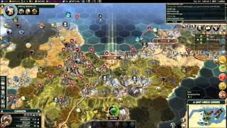 Civ V Brave New World Multiplayer Game 039 6 Player FFA: Spain (Gameplay/Commentary) Part 7/8