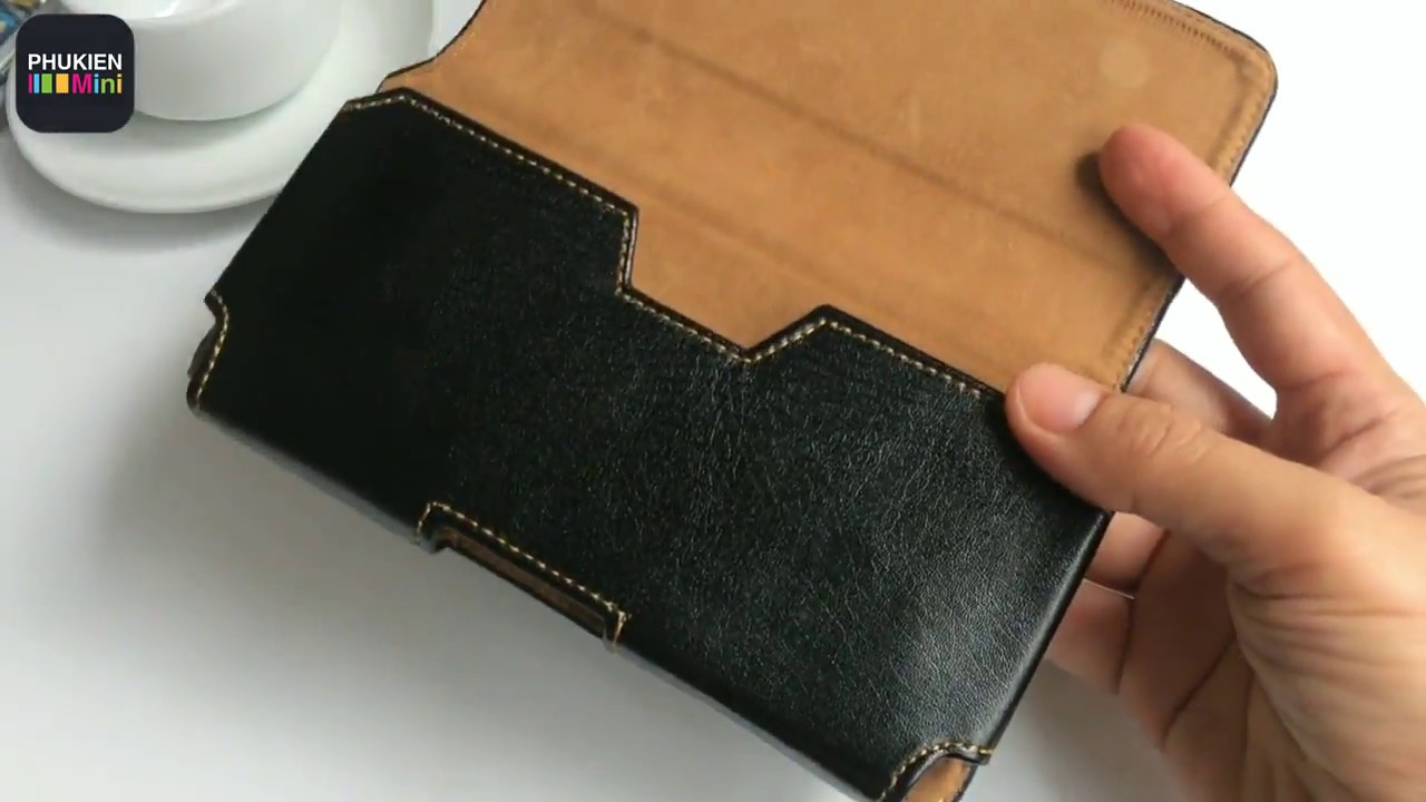 Bao da đeo hông thắt lưng nằm ngang cho điện thoại 5 inch, 5.2 inch, 5.5 inch, 6 inch, 6.3 inch