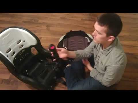 Evenflo Tribute Car Seat assembly- how to remove/wash/replace cover, adjust shoulder straps