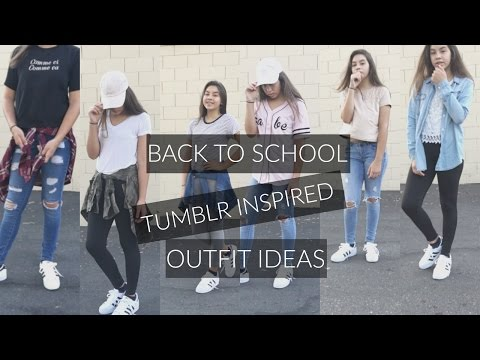 b30dd64c5c7f Back to school tumblr inspired outfit ideas pt. 2 ♡ - YouTube