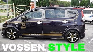 Perodua Alza Modified | Custom Bodykit VIP Style with Vossen Rims | Galeri Kereta
