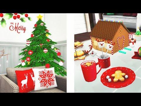 CHRISTMAS // Let's Shop & Build | The Sims 4 - CC Shopping