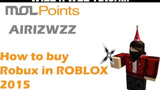 Roblox how to buy ROBUX with MOLPoint 2015